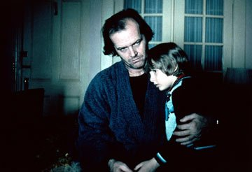 Jack Nicholson and Danny Lloyd in Warner Brothers' The Shining
