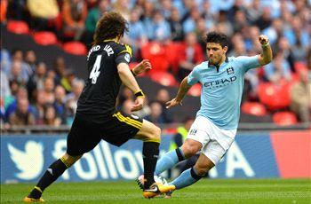 Sergio Aguero apologizes to David Luiz for challenge in FA Cup clash