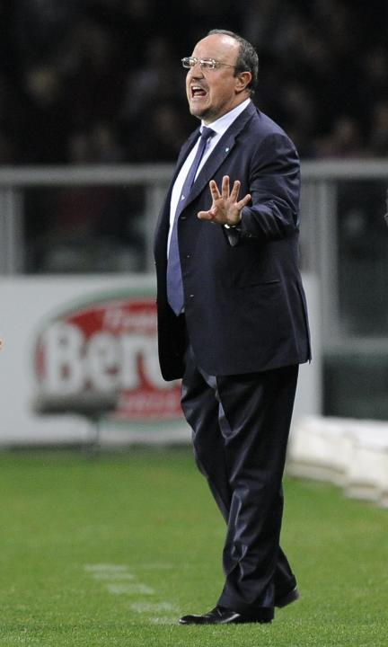 Napoli's coach Rafael Benitez reacts during their Italian Serie A soccer match against Torino FC in Turin