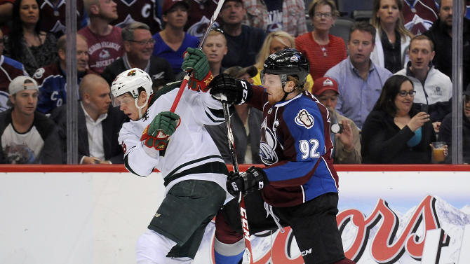 MacKinnon leads Avs to 4-3 OT win over Wild