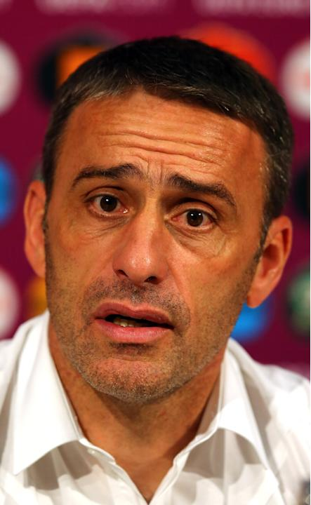 Post-Match Press Conferences - Portugal v Spain, Semi Final: UEFA EURO 2012