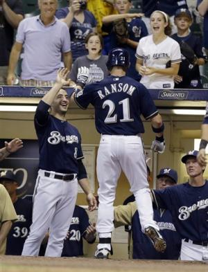 Ransom's HR caps late burst, Brewers beat Astros