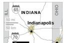 Map locates bus crash near Seymour, Indiana.;