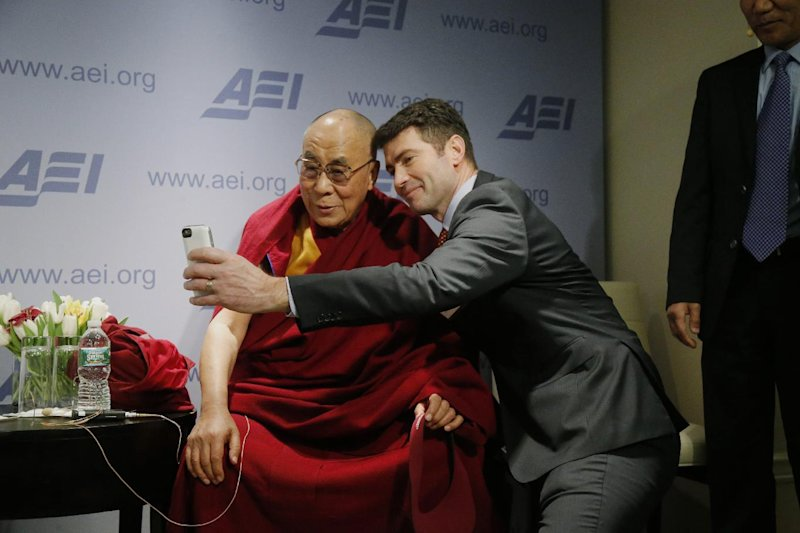 The Dalai Lama spent the day with hundreds of conservatives in Washington, D.C.