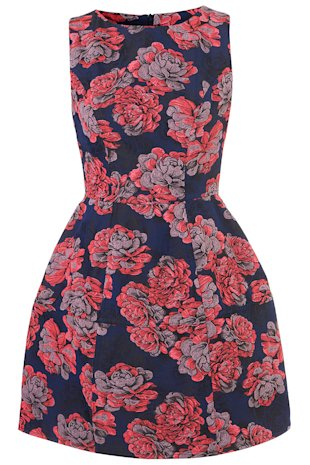 Top Shop blue and red floral dress