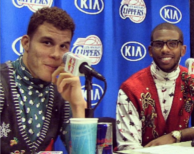 Ur 1st Class View: NBA teammates' ugly Christmas sweaters