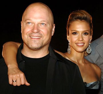 Premiere: Michael Chiklis and Jessica Alba at the New York premiere of 20th Century Fox's Fantastic Four - 7/6/2005