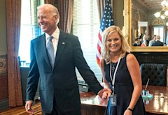 Joe Biden and Amy Poehler | Photo Credits: David Giesbrecht/NBC