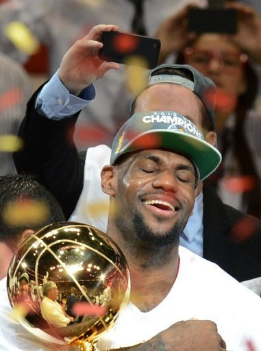 LeBron James on Thursday was named the Most Valuable Player of the NBA Finals
