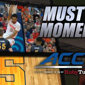 Syracuse's Gbinije Skies For Crazy Follow-Slam | ACC Must See Moment