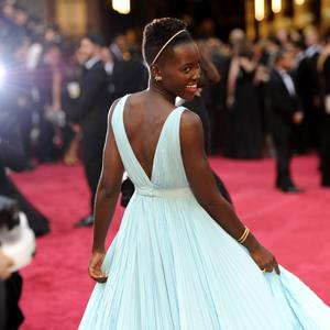 Lupita Nyong'o a Goddess in Blue at Oscars