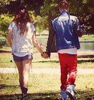 Selena Gomez and Justin Bieber in Los Angeles