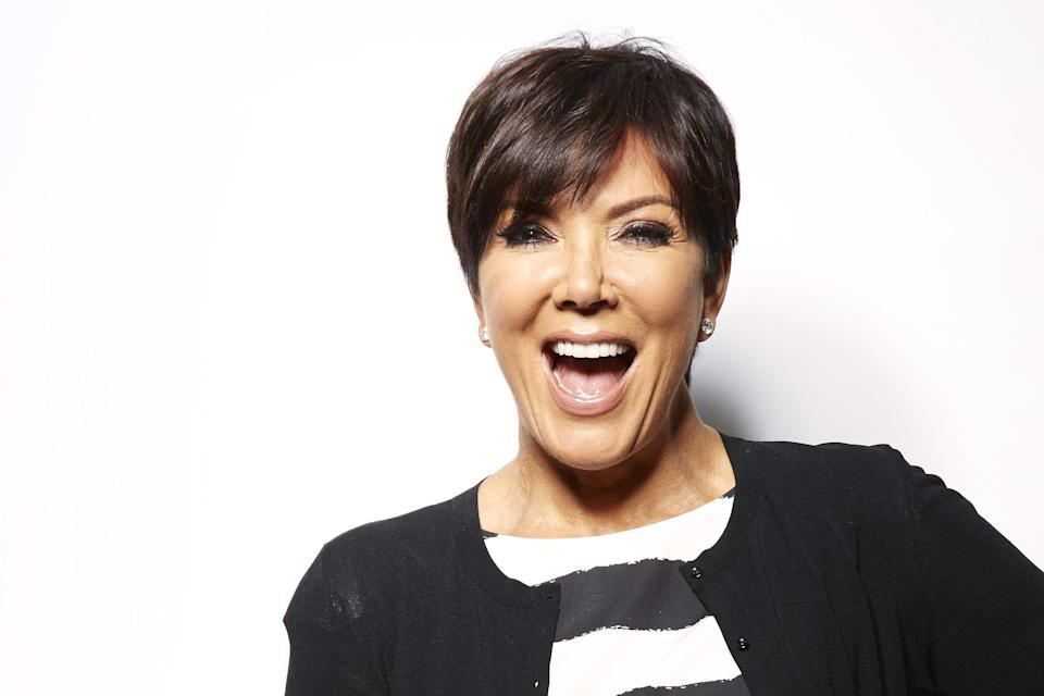 "In this Monday July 8, 2013 photo, TV personality Kris Jenner poses for a portrait in New York. Jenner's new talk show ""Kris,"" will air for six weeks starting July 15 on selected Fox-owned stations. (Photo by Dan Hallman/Invision/AP)"