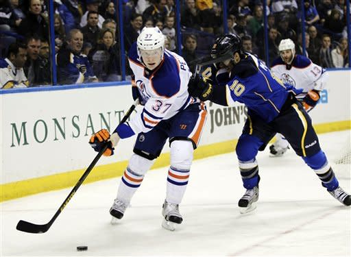 Khabibulin, Oilers blank Blues 3-0