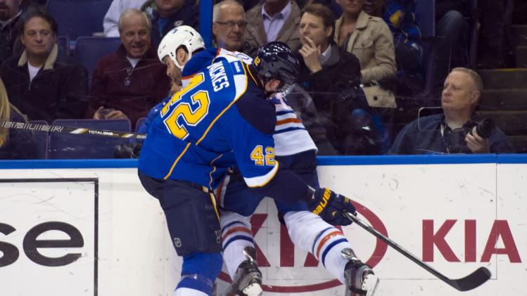 NHL: Edmonton Oilers at St. Louis Blues