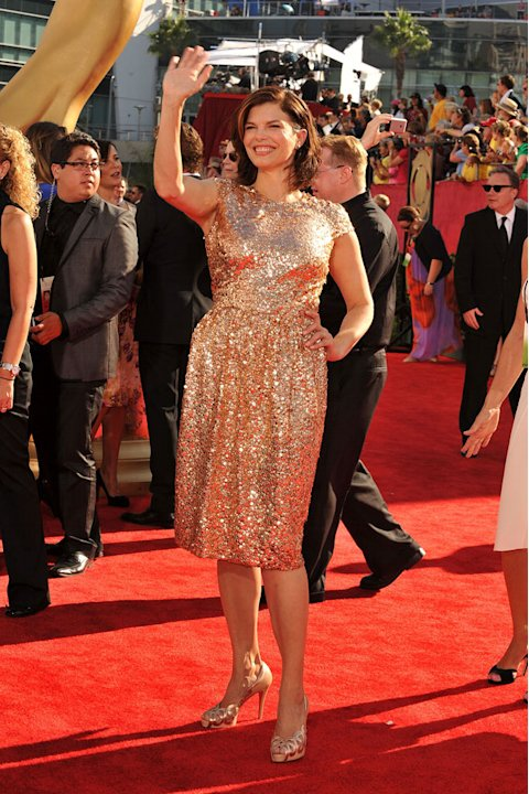 Jeanne Tripplehorn arrives at the 61st Primetime Emmy Awards held at the Nokia Theatre on September 20, 2009 in Los Angeles, California.