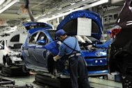 File photo of a Toyota auto plant in Kanegasaki town, Iwate prefecture. In June, Japan posted a better-than-expected trade surplus of 61.7 billion yen, with the exports of vehicles and auto parts rising, the data showed