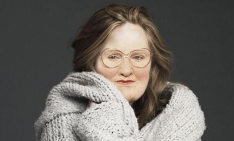 Adele's body + Mrs. Doubtfire's face = One extremely creepy Tumblr.