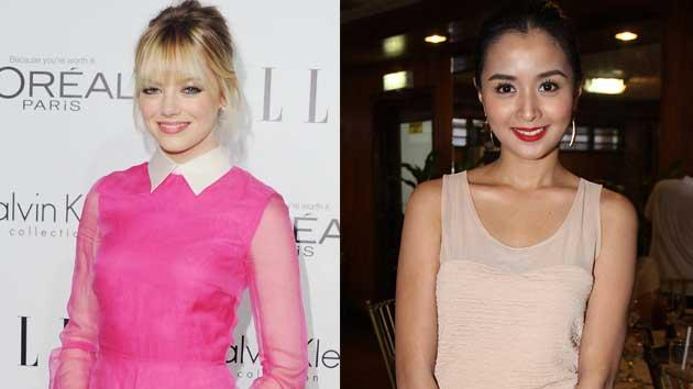 Emma Stone and Kris Bernal