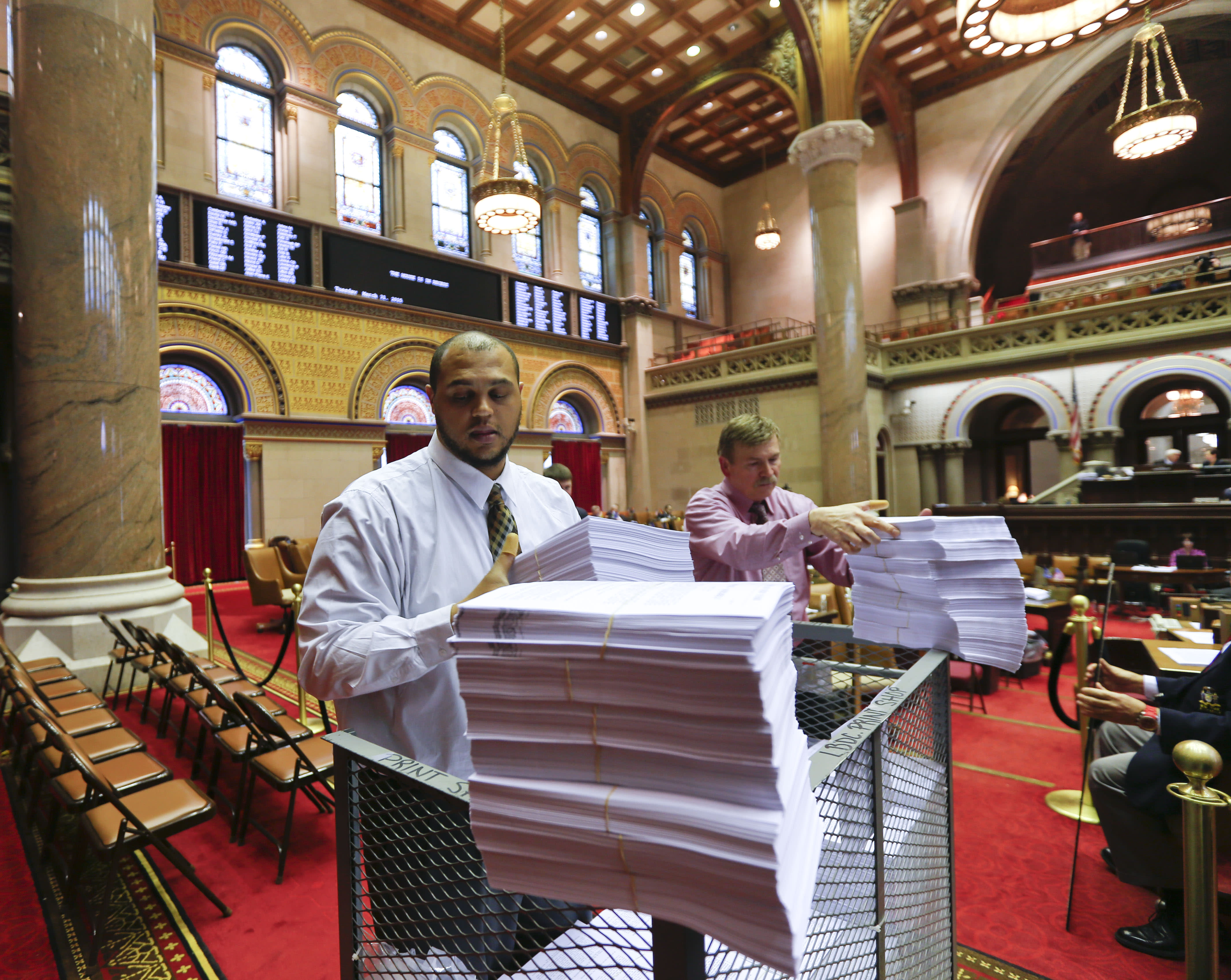 New York lawmakers rush to beat midnight budget deadline
