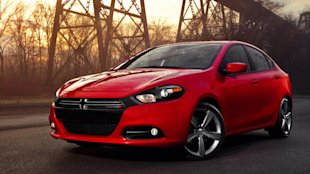 The Dodge Dart, debuting at the Detroit Auto Show.