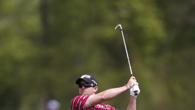 Steve Wheatcroft hits the ball on the 2nd hole during the second round of the Houston Open golf tournament, Friday, March 29, 2013 in Humble, Texas. (AP Photo/Jon Eilts)