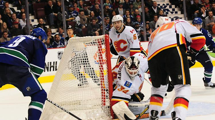 NHL: Calgary Flames at Vancouver Canucks