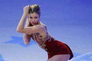 Fourth place finisher Ashley Wagner skates during an exhibition event at the conclusion of the U.S. Figure Skating Championships in Boston