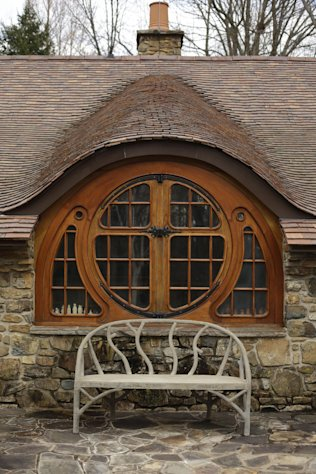 Shown is an exterior view of the Hobbit House Tuesday, Dec. 11, 2012, in Chester County, near Philadelphia. Architect Peter Archer has designed a Hobbit House containing a world-class collection of J.R.R. Tolkien manuscripts and memorabilia. (AP Photo/Matt Rourke)