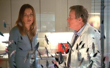 Lucy Lawless and John Heard CBS's Locusts