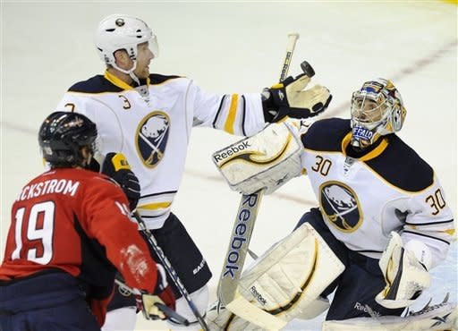 Surging Ovechkin gets 2; Capitals upend Sabres 3-1