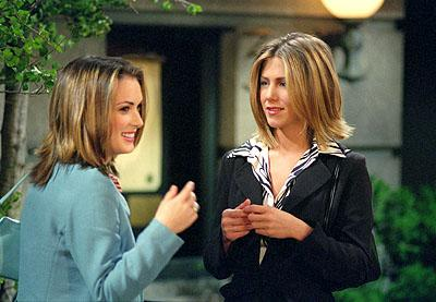 "Winona Ryder and Jennifer Aniston in ""The One With Rachel's Big Kiss"" in NBC's Friends"