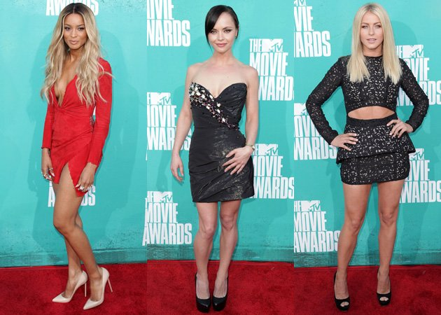 Ciara, Christina Ricci, Julianne Hough, MTV Movie Awards 2012, red carpet