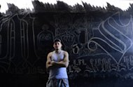A member of the Mara Salvatrucha gang is pictured on March 4, 2013 at a gym in San Miguel, 160 km east of San Salvador. Rival Salvadoran street gangs on Saturday added a sixth city to a truce signed a year ago, in a hopeful sign for a peace pact that has dramatically lowered deaths from gang-related homicide