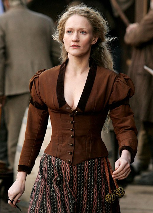 Paula Malcomson stars in Deadwood on HBO.
