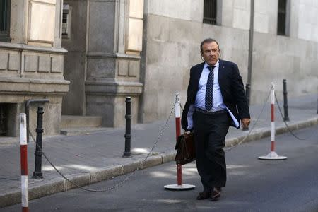 Fernandez, lawyer of Naghemeh and Brett, parents of seriously ill Ashya King, 5, arrives at the Spanish High Court in Madrid