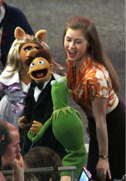 Amy Adams The Muppets Set