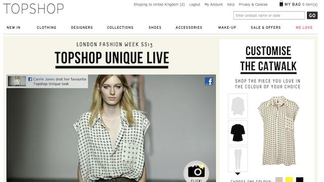 Millions Watch Online Video of Topshop London Fashion Week Show