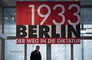 A banner advertises the exhibition &quot;Berlin 1933&quot; at the Topography of Terror museum in Berlin. The exhibition highlights key points up until the Summer of 1933. The 80th anniversary of Hitler&#39;s rise to power has sparked much interest in Germany