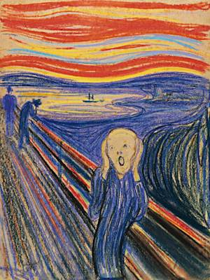 """FILE - This undated photo provided by Sotheby's shows """"The Scream"""" by Norwegian painter Edvard Munch. The work, which dates from 1895 and is one of four versions of the composition, will lead Sotheby's Impressionist & Modern Art Evening Sale in New York on May 2, 2012. (AP Photo/Sotheby's, File)"""