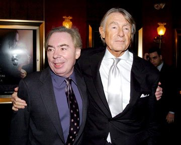 Composer Andrew Lloyd Webber and director Joel Schumacher at the New York premiere of Warner Brothers' Andrew Lloyd Webber's The Phantom of the Opera