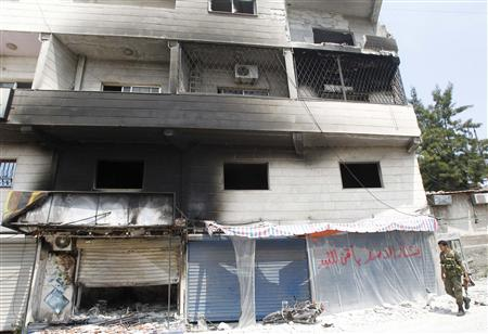 Syrian Town Deserted, Burnt After Clashes