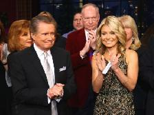 Regis Philbin and Kelly Ripa on set during Regis Philbin's Final Show of 'Live! with Regis & Kelly' in New York New York on November 18, 2011  -- Getty Images