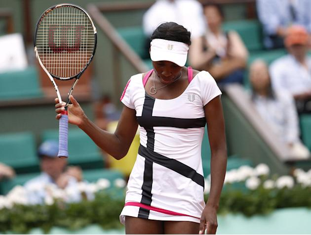 US Venus Williams Reacts  AFP/Getty Images