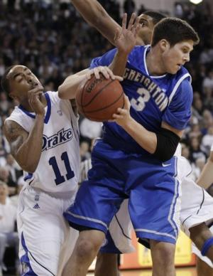 No. 15 Creighton holds off Drake