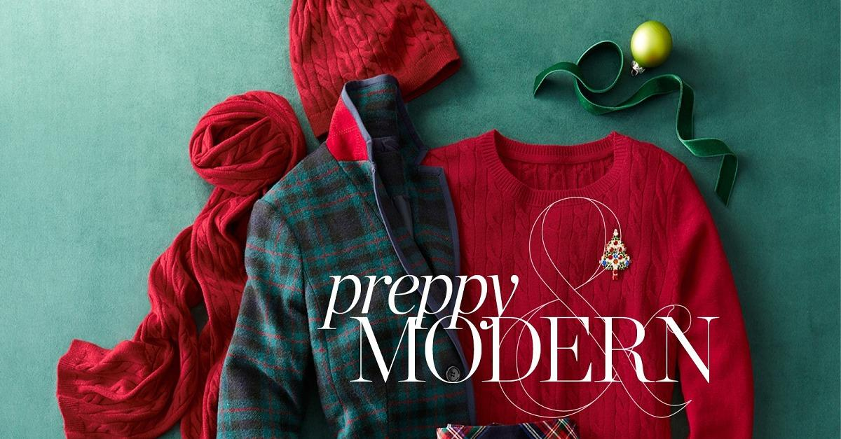 Talbots' Holiday Wonderland of Gifts.
