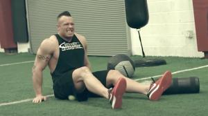 WATCH: Pro Bodybuilders Challenge NFL Players to a Race, Injuries Ensue