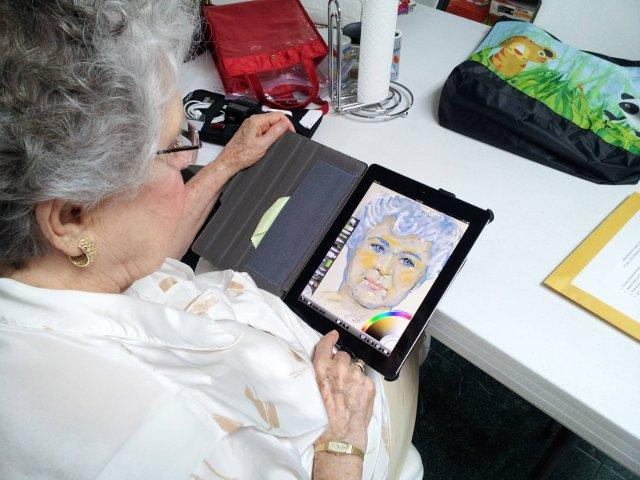 This 84-Year Old Just Put You to Shame With Her First iPad Self-Portrait