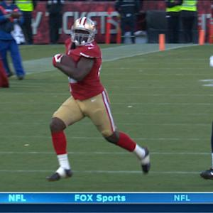San Francisco 49ers running back Frank Gore 51-yard run