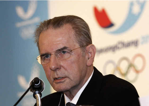 FILE - In this Friday, Feb. 1, 2013 file photo International Olympic Committee (IOC) President Jacques Rogge speaks during a press conference in Seoul, South Korea. IOC President Jacques Rogge said in